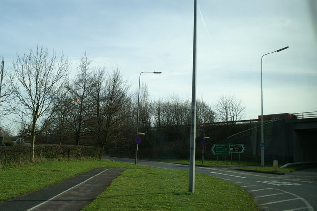 Access to the A55 from the A56
