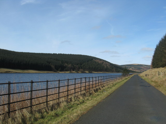Minor road, adjacent to Talla Reservoir, heading for Tweedsmuir