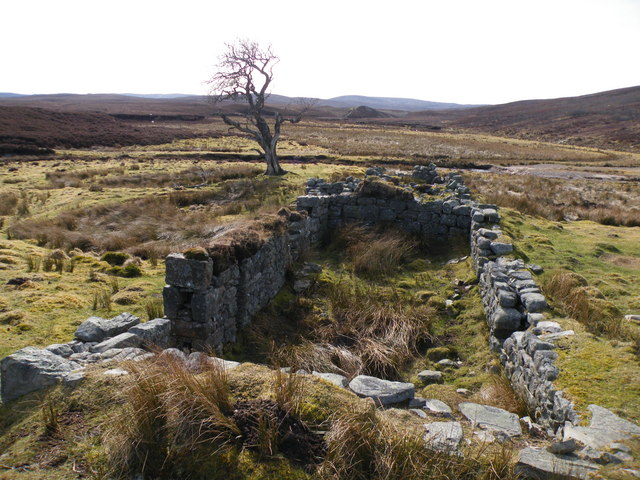 Ruins at Battanmaceachaim beside Rhilean Burn