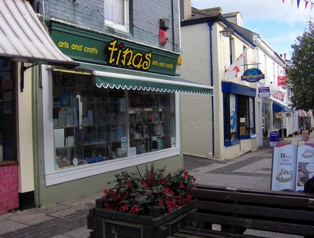 Tina's  arts and crafts shop, St Marychurch precinct
