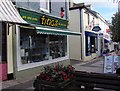 SX9165 : Tina's  arts and crafts shop, St Marychurch precinct by Joan Vaughan