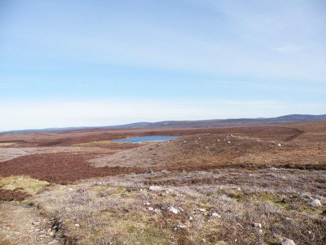 Loch Dubh from Moorland Track beside Rhilean Burn