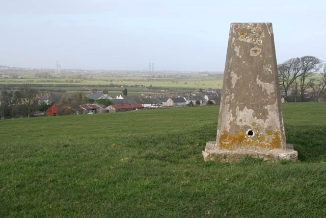 Trig point above Overton