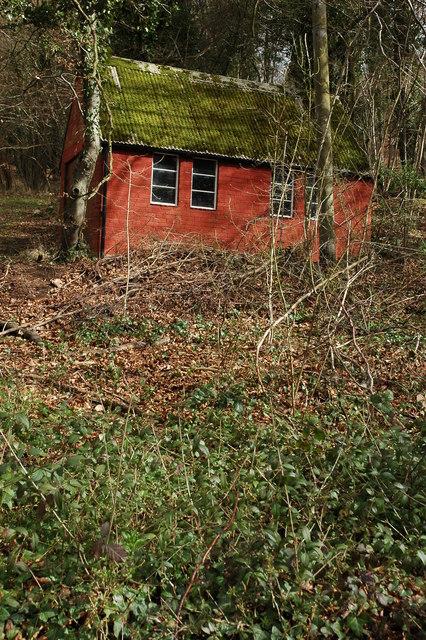 Garage in the Doward woods