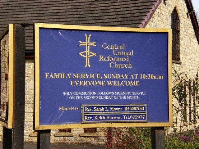 Central United Reformed Church, Darwen, Sign