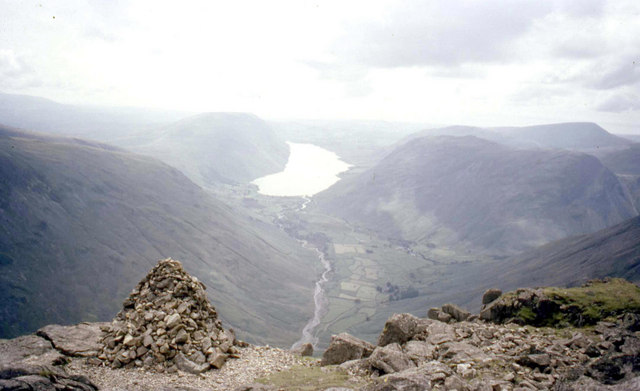 Wastwater from the Westmorland cairn on Great Gable