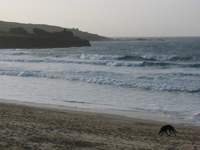 Waves off Porthmeor Beach, St Ives