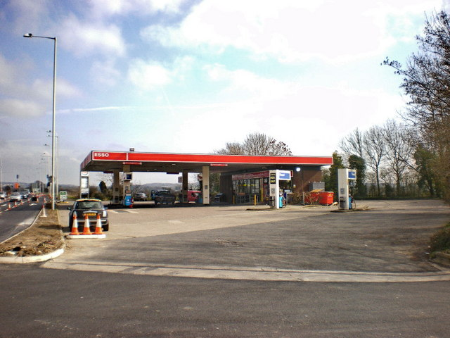 Esso filling station on the A59