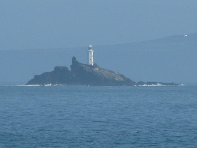 Godrevy Island and lighthouse from St Ives