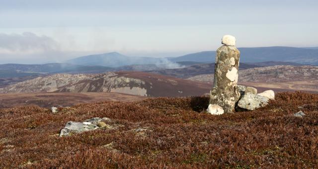 Cairn on a top east of Cnapan a Choire Odhair Mhoir