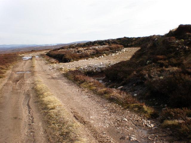 Layby on Moorland Track near Carn na Sguabaich Summit