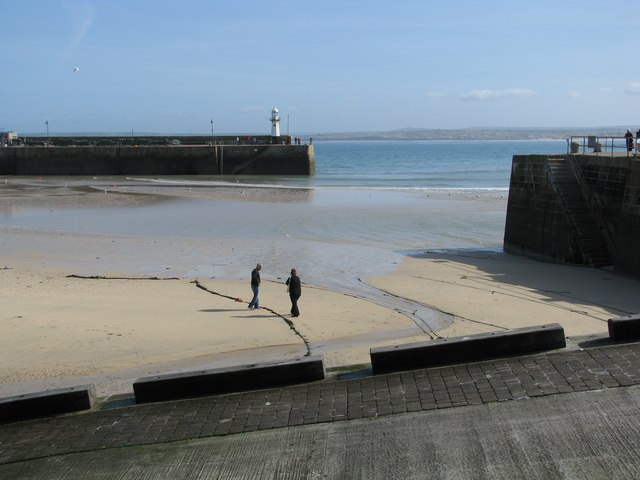 Entrance to St Ives harbour