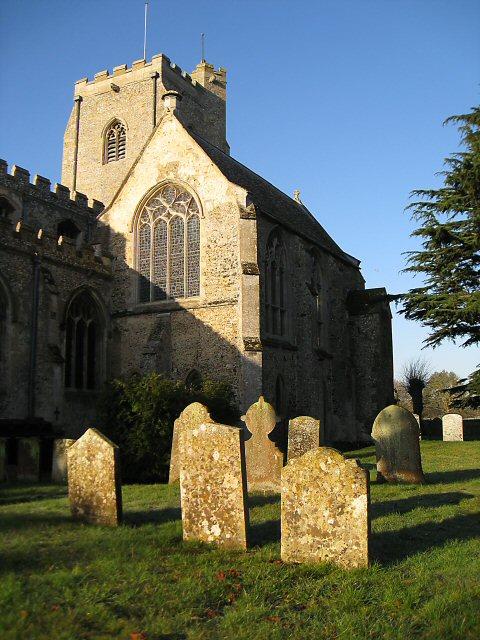 Sunlight on grave stones