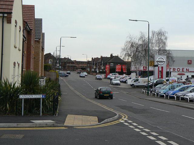 Haydn Road looking towards Nottingham Road