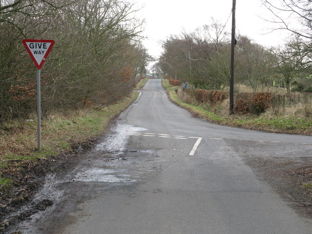 Intersection of Minor Roads near Carluke