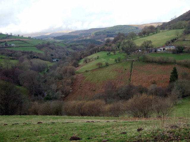 View up the Grwyne Fechan valley