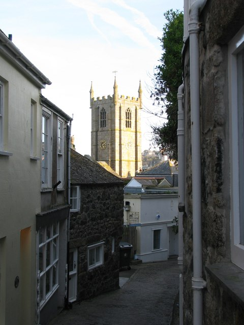 Quiet back street in St Ives