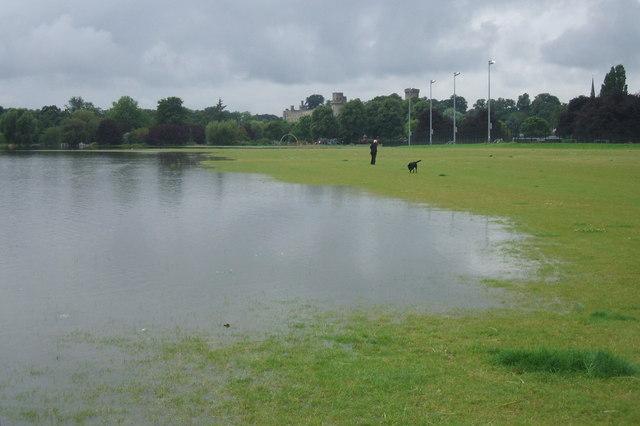 St Nicholas Park, Warwick, July 2007 floods