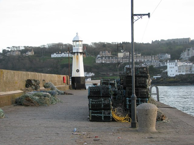 Lobster pots on St Ives Pier