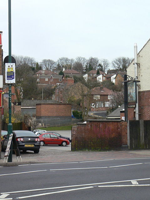 Houses at the back of Sherwood