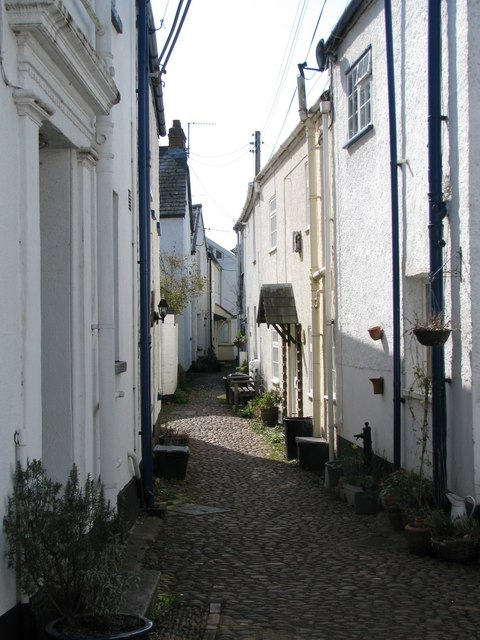 Cobbled lane in Lympstone