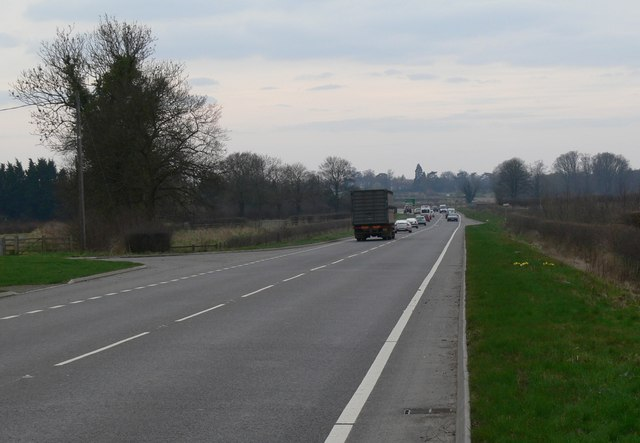 A607 Melton Road near Rearsby