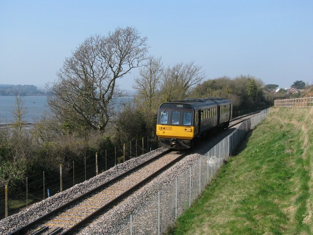 Exmouth train south of Lympstone