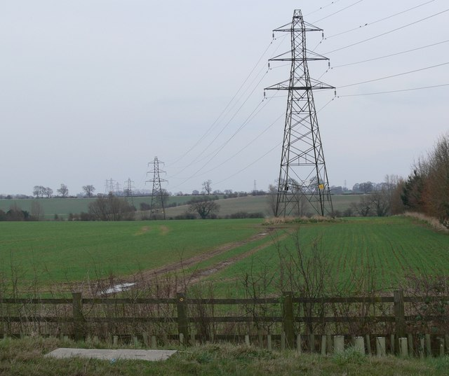 Pylons near Brooksby Grange Farm