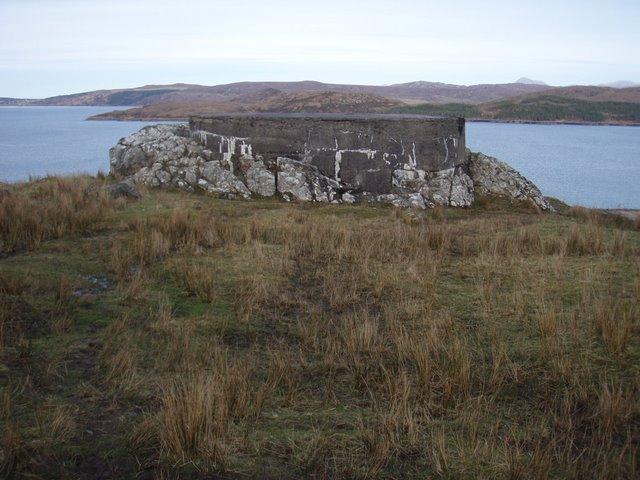 WW2 defences by Loch Ewe