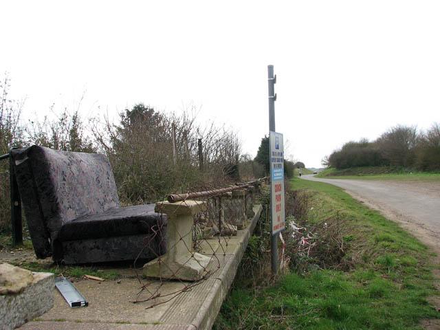 Disused railway platform in Walsingham