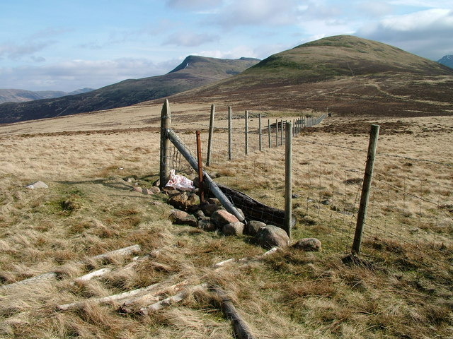 Fencing at the 518m top of Gale Fell