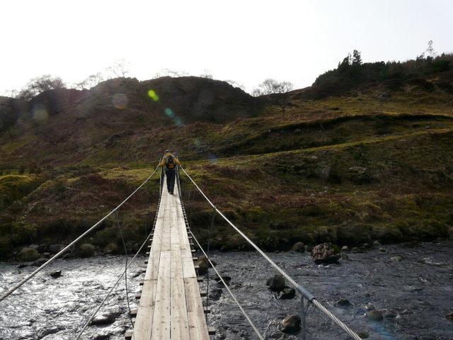 Footbridge across Langwell Water