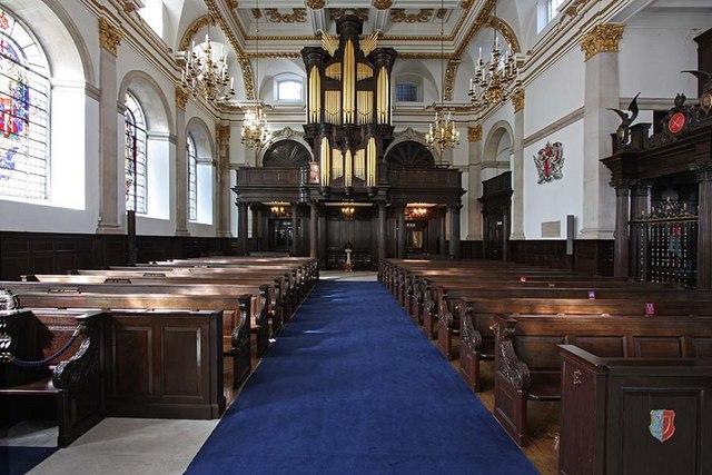 St Lawrence Jewry, Gresham Street, London EC2 - West end