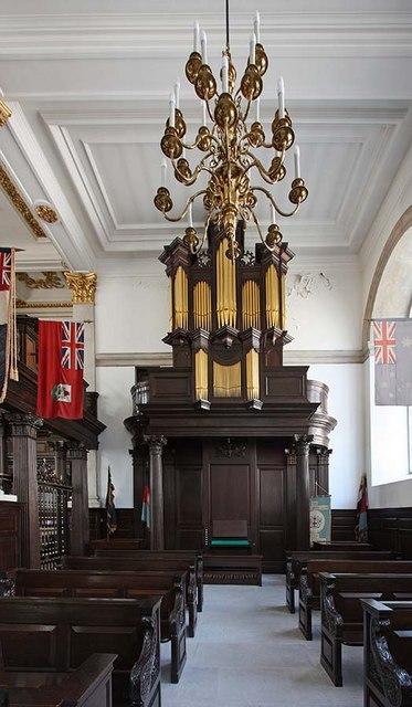 St Lawrence Jewry, Gresham Street, London EC2 - North chapel organ
