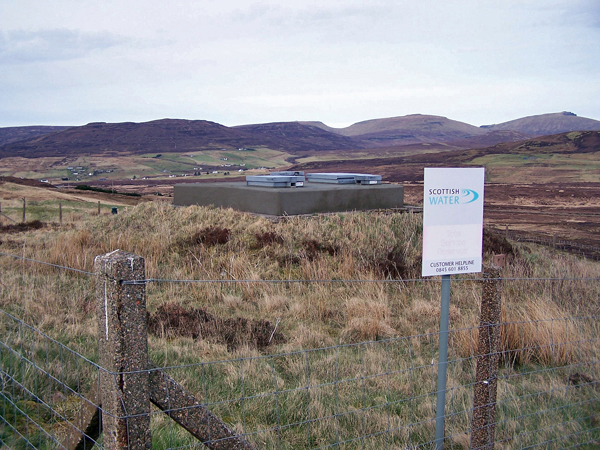 Scottish Water, Tote service reservoir