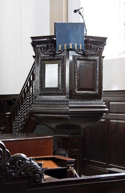St Lawrence Jewry, Gresham Street, London EC2 - Pulpit
