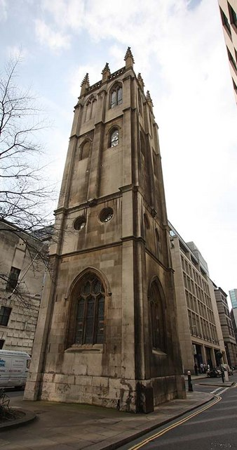 Tower of St Alban's Church, Wood Street, London EC2