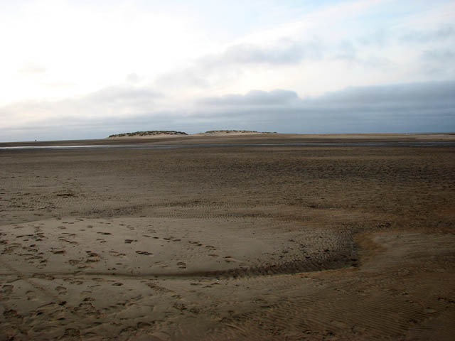 Wells beach at low tide