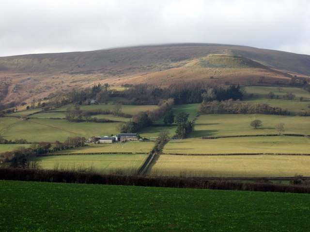 View northwest towards Crug Hywel