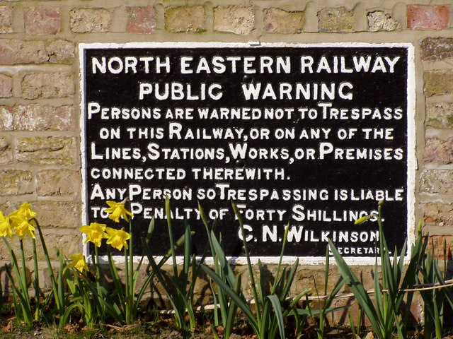 Historic Railway Sign