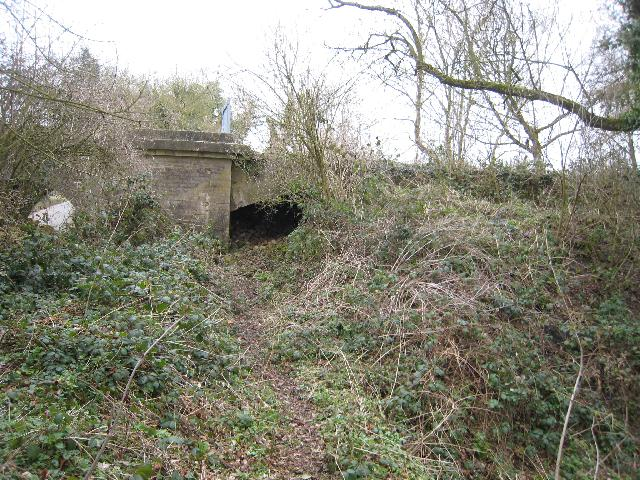 Remains of railway bridge over the Thames & Severn Canal