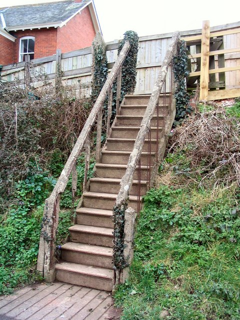 Stair from Lympstone Station Car Park