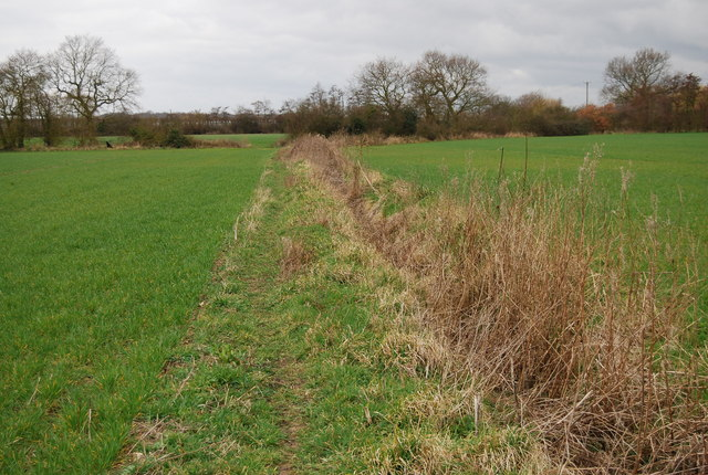 Bridleway along a ditch & field edge (2)