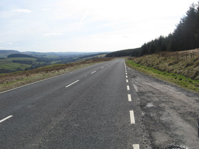 The 701 heading south to Moffat in Dumfriesshire