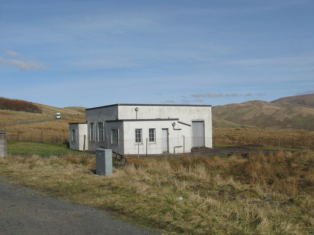 An old telecoms station sitting at the side of the A701 north of Moffat