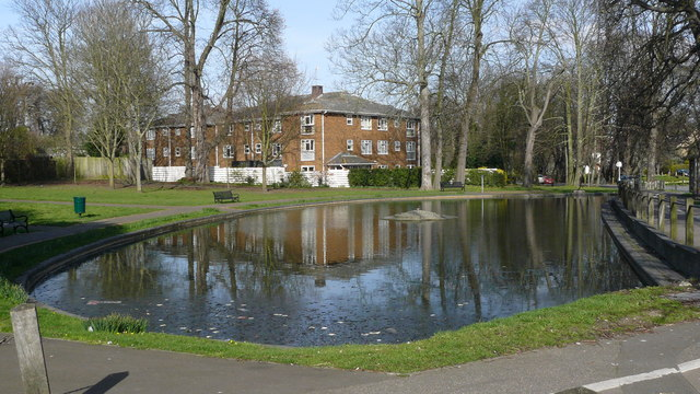 Pond by London Road