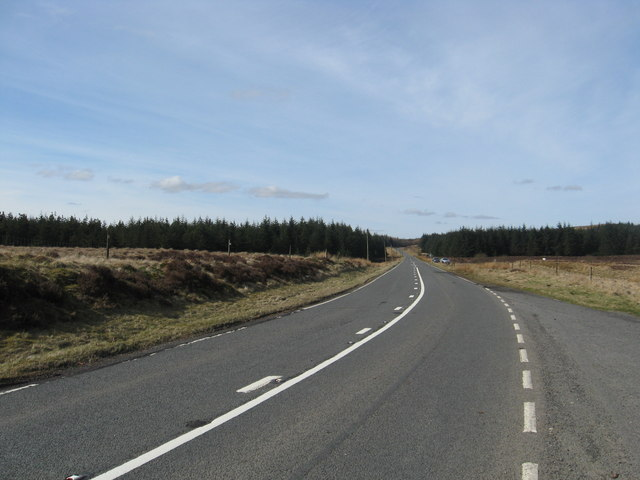 Looking north-west on the A701 near the Devil's Beeftub
