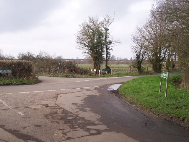 Road junction on Church Hill