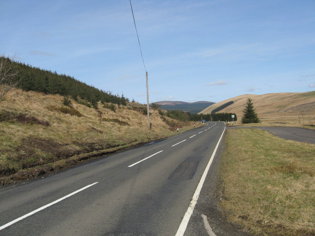 The journey north, the A701 passing Tweedhopefoot
