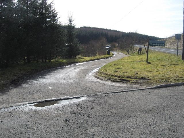 Entrance to Tweedhopefoot Farm